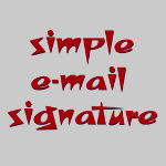 Free Simple e-mail Signature Tool