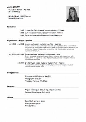appli cv modèle #11 cv stage